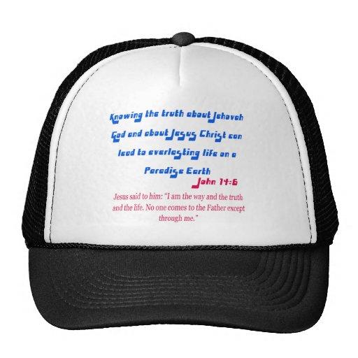 Jehovah's Witness John14-6 Mesh Hat