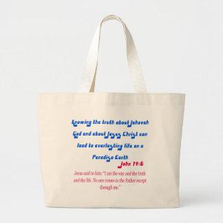 Jehovah's Witness John14-6 Jumbo Tote Bag