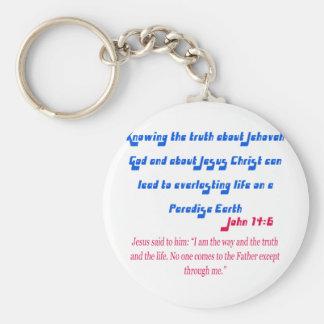 Jehovah's Witness John14-6 Key Chains