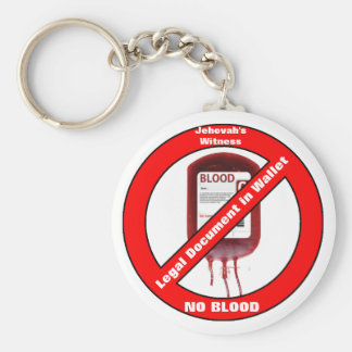 Jehovah's Witness No Blood Basic Round Button Keychain