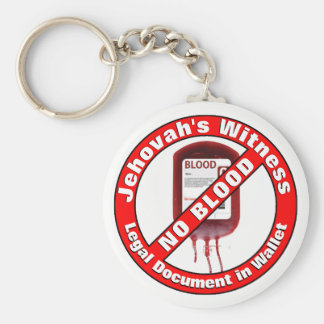 Jehovah's Witness - No Blood Basic Round Button Keychain