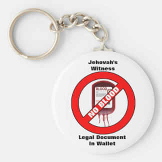 Jehovah's Witness - No Blood - Key Chain