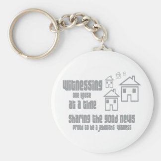 Jehovah's Witness Witnessing Basic Round Button Keychain