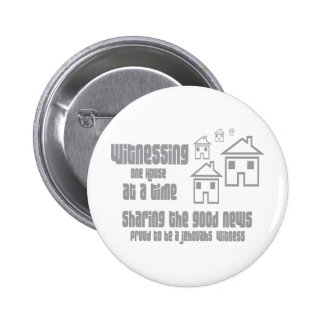Jehovah's Witness Witnessing Pinback Button