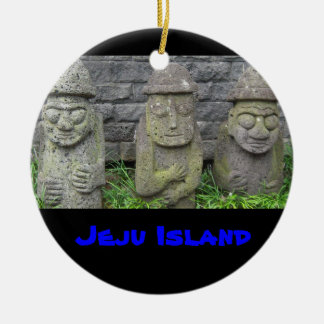 Jeju Grandfathers, Jeju Island Ceramic Ornament