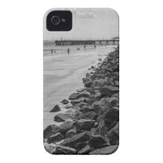Jekyl Island Georgia Sea Barrier Black and White iPhone 4 Case-Mate Case