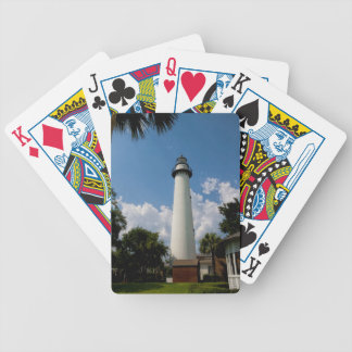 Jekyll Island Georgia Lighthouse Bicycle Playing Cards