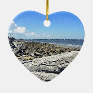 Jekyll View Ceramic Heart Ornament