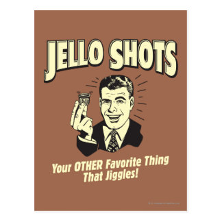 Jello Shots: Other Favorite Thing Postcard