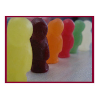 Jelly babies on parade - Poster