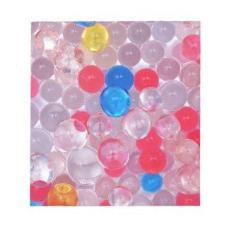 jelly balls notepad