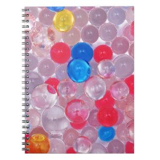 jelly balls spiral notebook