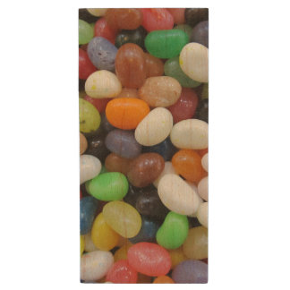 Jelly Bean black blue green Candy Texture Template Wood USB 2.0 Flash Drive