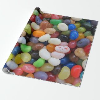 Jelly Bean black blue green Candy Texture Template Wrapping Paper