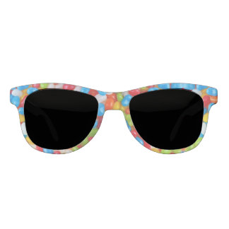 Jelly Bean Front & Red Arms Sunglasses