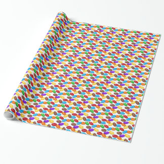 Jelly Bean Pattern Glossy Wrapping Paper