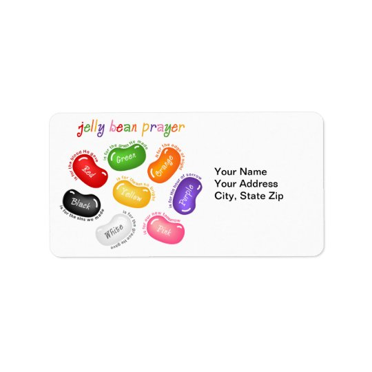 Jelly Bean Prayer Label