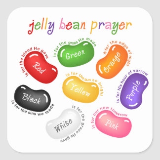 Jelly Bean Prayer Sticker