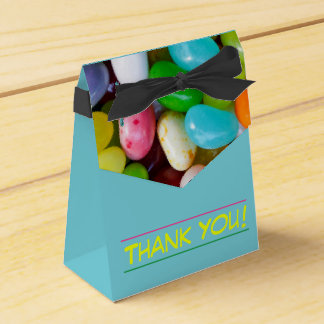 Jelly Bean Thank You Tent Favor Box