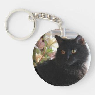 Jelly Bean, the black licorice cat, key chain