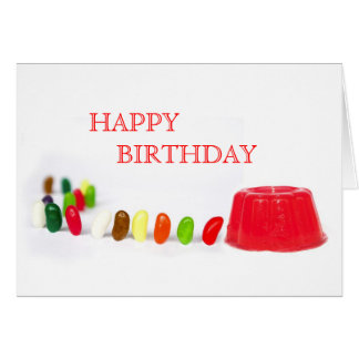 Jelly Beans Birthday Card