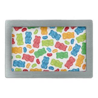 Jelly Beans & Gummy Bears Pattern Belt Buckles