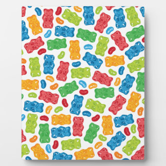 Jelly Beans & Gummy Bears Pattern Display Plaques