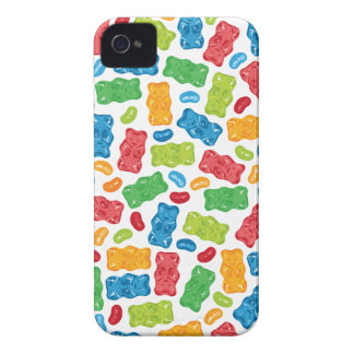 Jelly Beans & Gummy Bears Pattern iPhone 4 Cover