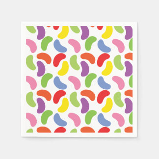 Jelly Beans Pattern Colorful Cute Disposable Napkins