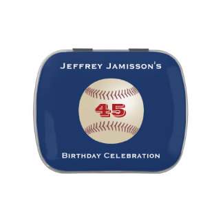 Jelly Belly Candy Tin Baseball Party Favor 45 Yrs