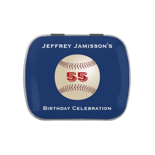Jelly Belly Candy Tin Baseball Party Favor 55 Yrs