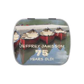Jelly Belly Candy Tin Red Canoes Party Favor 75