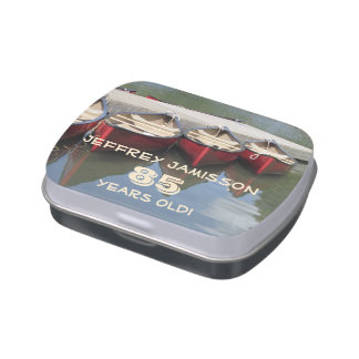 Jelly Belly Candy Tin Red Canoes Party Favor 85