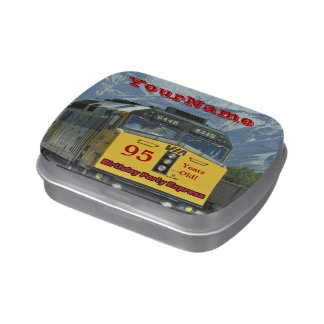 Jelly Belly Candy Tin Train Party Favor 95 Years
