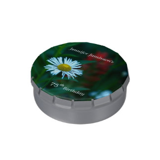 Jelly Belly White Daisy Party Favor 75th Birthday