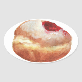 Jelly Donut Hanukkah Sticker