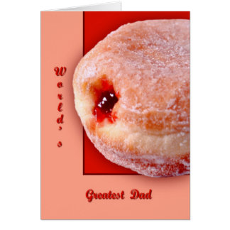 Jelly Filled Donut Greeting Card