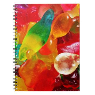 jelly gum spiral notebook