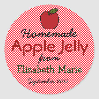 Jelly Homemade Classic Round Sticker