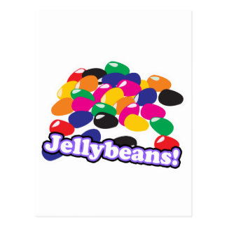jellybeans with text postcard