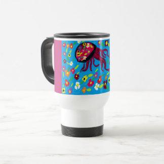 jellyfish art travel mug