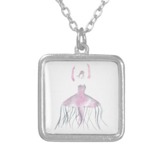 Jellyfish Ballerina - Annette Silver Plated Necklace