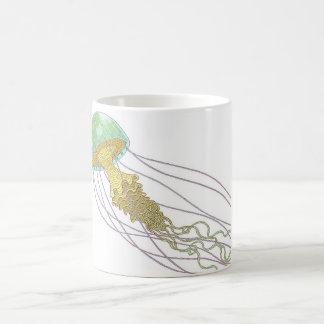 Jellyfish Basic White Mug