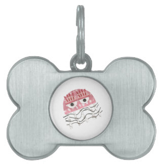 Jellyfish Comb Bone Pet Tag