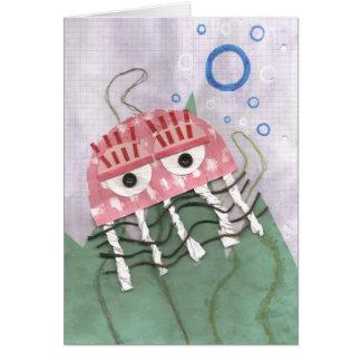 Jellyfish Comb Greeting Card
