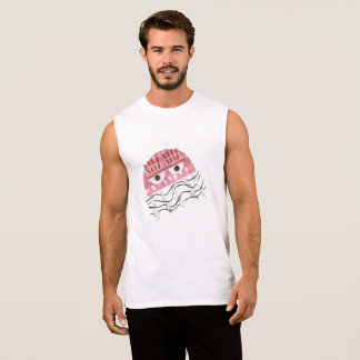 Jellyfish Comb No Background Men's Vest Top
