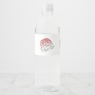 Jellyfish Comb Water Bottle Labels
