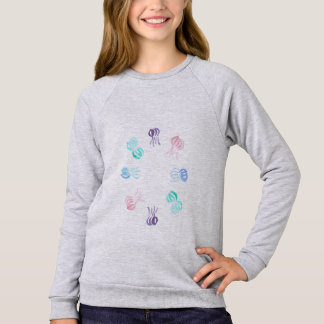 Jellyfish Girls' Raglan Sweatshirt