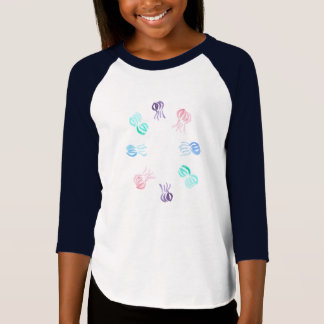 Jellyfish Girls' Raglan T-Shirt