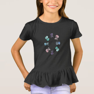 Jellyfish Girls' Ruffle T-Shirt
